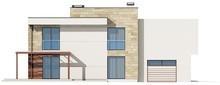 Проект двухэтажного просторного коттеджа, выполненного в современном стиле