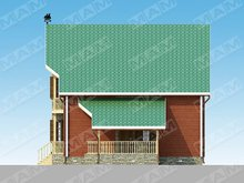 Проект загородного небольшого красивого дома площадью 150 м