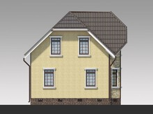 Проект малогабаритного простого дома площадью 100 m²