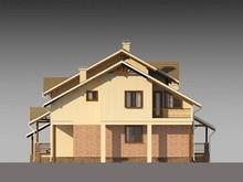 Проект большого просторного дома с кирпичным фасадом и всеми удобствами