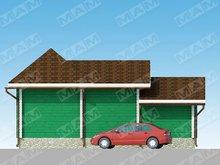 Проект небольшой сторожки с гаражом