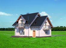 Небольшой загородный дом с угловым эркером