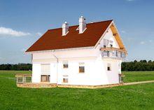 Мансардный дом с эркером 8 на 10 м