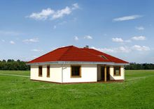 Небольшое одноуровневое строение с тремя жилыми помещениями