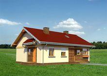 Архитектурный проект стильного коттеджа с тремя спальнями