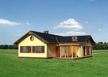 Пригожее одноэтажное строение со студией - кухней