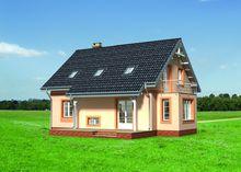 Двухэтажный стильный особняк приятного вида