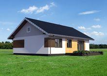 Одноэтажный коттедж прямоугольной формы 13 на 10