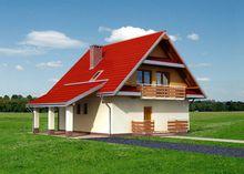 Проект замечательного коттеджа с пятью комнатами и гаражом