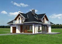 Превосходный загородный коттедж с уютной террасой и выходом в сад