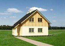 Проект дачного домика с площадью 90 m²