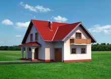 Проект красивого загородного дома с площадью 180 m²