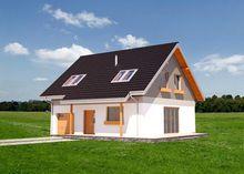Архитектурный проект небольшого коттеджа с лаконичным дизайном