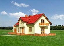 Симпатичный загородный дом с гаражом и балконами с площадью 200 m²