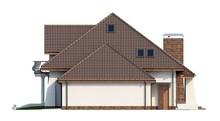 Проект дома с мансардой и балконом