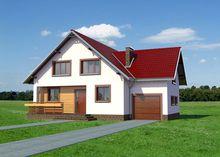 Проект красивого загородного коттеджа с площадью около 165 m²