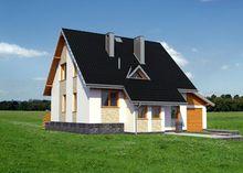 Компактный загородный дом с размерами 10 на 12 м