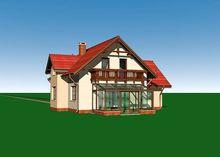 Стильный загородный коттедж с большой крытой верандой