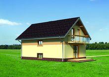 Небольшой загородный коттедж с гармоничным дизайном