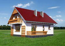 Мансардный дом с эркером 9 на 10