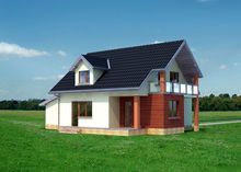Проект мансардного дома более 150 m²