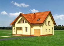 Легкое интересное строение с гаражом