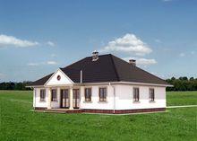 Красивый одноэтажный дом