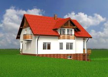 Жилой дом в несколько уровней с просторным цокольным этажом