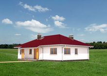 Жилой дом на один этаж с четырьмя спальнями