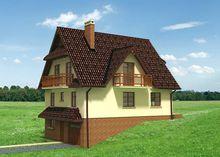 Красочное строение для участка с уклоном