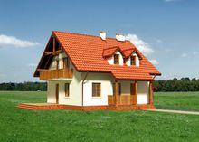 Мансардный особняк с красивой гостиной и кабинетом