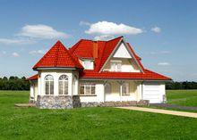 Проект необычного жилого дома с эркером-башней