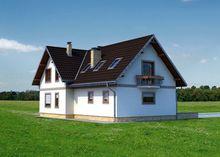 Проект строительства уютного мансардного коттеджа с многоскатной крышей