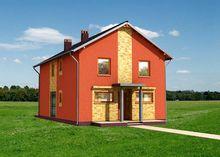 Необычайно красочный двухэтажный коттедж с 4 спальнями