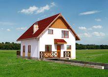 Красивый двухэтажный дом со стильными балконами и открытой террасой общей площадью 159 кв. м, жилой 110 кв. м