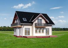 Изящный двухэтажный дом с пятью спальнями