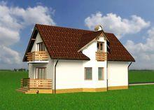 Красивый жилой дом, декорированный деревом