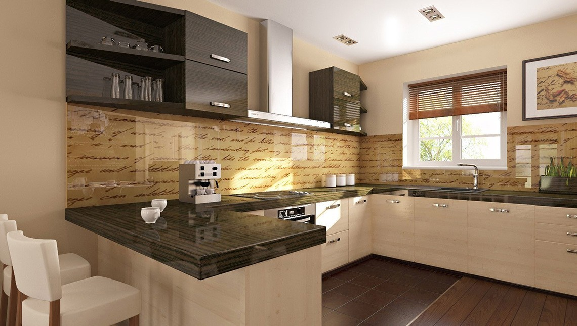 кухня в доме из газобетона