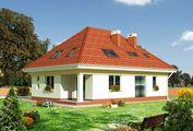 Дом с мансардой и встроенным гаражом для транспорта