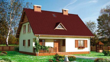 Мансардный дом в классическом стиле 9 на 12 м