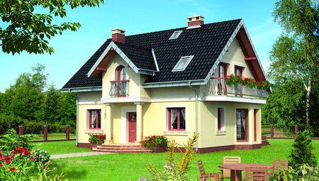 Элегантный дом с изящными балконами