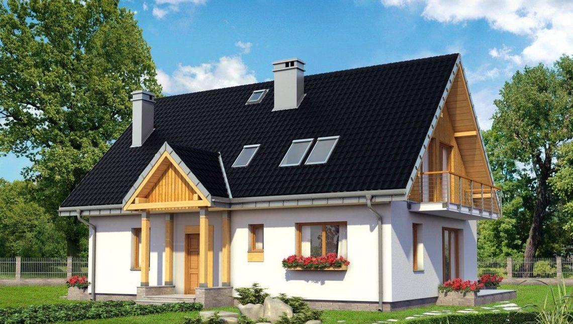 Проект симпатичного коттеджа с площадью 160 m²