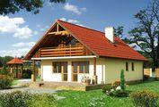 Архитектурный проект роскошного загородного дома с мансардой и террасой