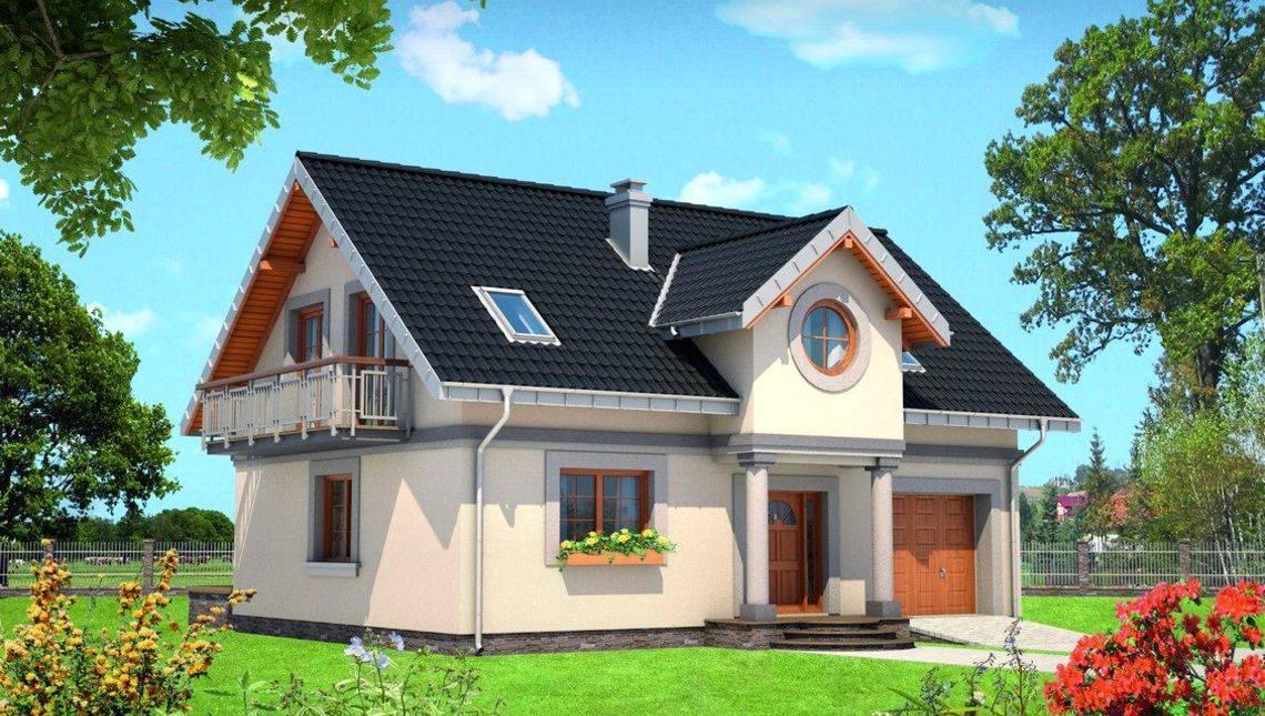 Архитектурный проект симпатичной виллы с четырьмя спальнями