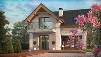 Проект небольшого дома с мансардными окнами