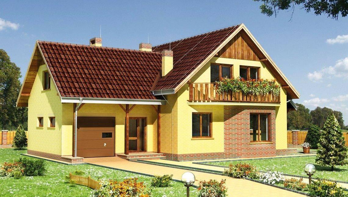 Проект стильной загородной виллы с удобной планировкой