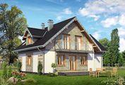 Уютный загородный дом с мансардой и выходом на террасу