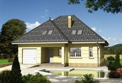 Проект загородного дома с мансардой и стильным дизайном