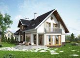 Роскошный загородный особняк с уютной зоной для отдыха