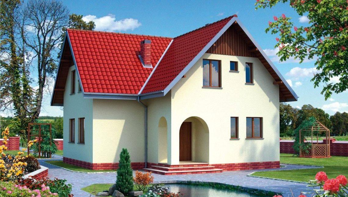 Компактный загородный дом для семьи из 3-4 человек